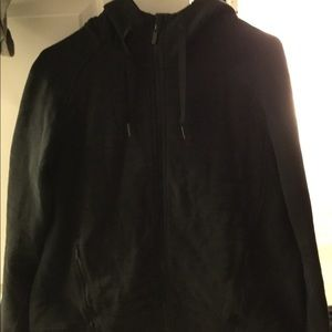 LULULEMON BLACK HOODIE WITH QUILTING